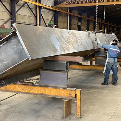 IACSA, actividades y servicios, proceso de fabricación de estructuras metálicas y acero