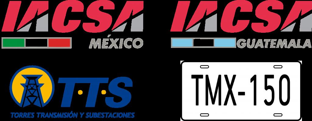 IACSA ACEROS, LOGOTIPOS, GUATEMALA, MÉXICO, TTS Y IACSA ACEROS, LOGOTIPOS, TTS Y TRANSPORTES MÉXICO